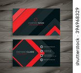 red minimal dark business card... | Shutterstock .eps vector #396968329