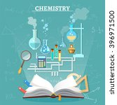 education chemistry lesson open ... | Shutterstock .eps vector #396971500