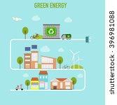 smart  modern cities ecology... | Shutterstock .eps vector #396981088