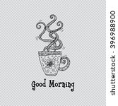 greeting card. good morning  | Shutterstock .eps vector #396988900