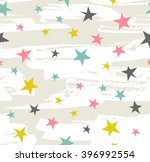 hipster geometric star seamless ... | Shutterstock .eps vector #396992554