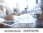 business documents on office... | Shutterstock . vector #396996598