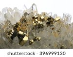 pyrite mineral crystal pyrite... | Shutterstock . vector #396999130