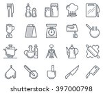 kitchen  kitchenware icon set... | Shutterstock .eps vector #397000798