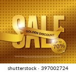 sale golden vector banner