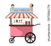 ice cream cart sweet frozen... | Shutterstock .eps vector #397006174