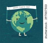 cartoon earth illustration.... | Shutterstock . vector #397007503