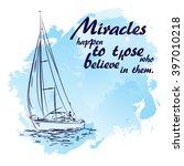 boat in sailing regatta. luxury ... | Shutterstock .eps vector #397010218
