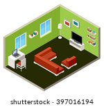 vector isometric interior with... | Shutterstock .eps vector #397016194
