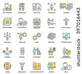 icons business and kinds of... | Shutterstock .eps vector #397016443