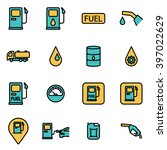 trendy flat line icon pack for... | Shutterstock .eps vector #397022629