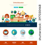 school and education one page... | Shutterstock .eps vector #397030468