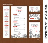 meat restaurant identity. meat... | Shutterstock .eps vector #397030588