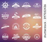 set of summer holidays design... | Shutterstock .eps vector #397032436