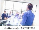 business man making a... | Shutterstock . vector #397033933
