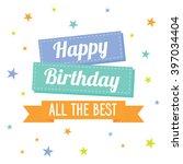 birthday card with star design | Shutterstock .eps vector #397034404