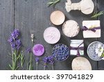 beauty product samples with... | Shutterstock . vector #397041829