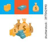 illustration of money. vector | Shutterstock .eps vector #397042990