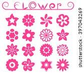 flower ornaments set  16 floral ...   Shutterstock . vector #397043269