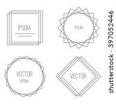 mono line frames set and...   Shutterstock .eps vector #397052446