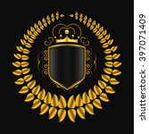 vector royal shield with golden ... | Shutterstock .eps vector #397071409