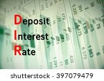 acronym dir as deposit interest ... | Shutterstock . vector #397079479