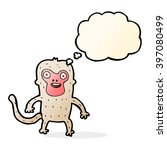 cartoon monkey with thought... | Shutterstock .eps vector #397080499