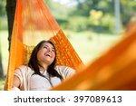 Cheerful Girl Enjoy In Orange...