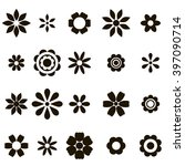 set of black flat flower icons | Shutterstock .eps vector #397090714