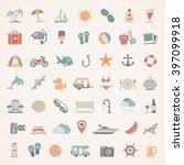 flat icons   summer | Shutterstock .eps vector #397099918