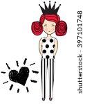 princess girl   Shutterstock .eps vector #397101748