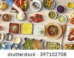 food festive restaurant party... | Shutterstock . vector #397102708