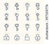 key line icons | Shutterstock .eps vector #397103776