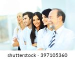 successful and happy business... | Shutterstock . vector #397105360
