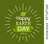 earth day globe tree plant... | Shutterstock .eps vector #397107160