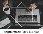 digital marketing media social...   Shutterstock . vector #397111750