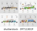 set of the infoghrphic elements.... | Shutterstock .eps vector #397113019