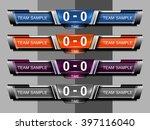 scoreboard broadcast graphic... | Shutterstock .eps vector #397116040