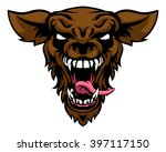 a cartoon scary wolf or... | Shutterstock .eps vector #397117150