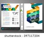 modern flyers brochure cover... | Shutterstock .eps vector #397117204
