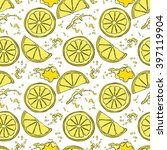lemon. juicy fruit. fruit... | Shutterstock .eps vector #397119904