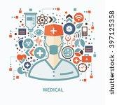 medical concept design on clean ... | Shutterstock .eps vector #397125358