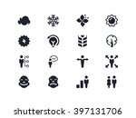 environmental and people icons. ... | Shutterstock .eps vector #397131706