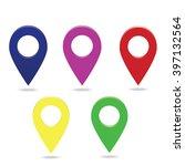 map points set   Shutterstock . vector #397132564
