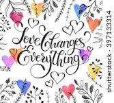 inspiring lettering black on... | Shutterstock .eps vector #397133314