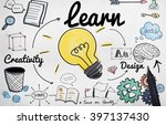 learn learning education... | Shutterstock . vector #397137430