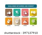 challenge flat icon set | Shutterstock .eps vector #397137910
