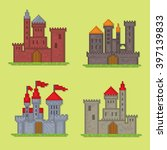 castles and fortresses vector... | Shutterstock .eps vector #397139833