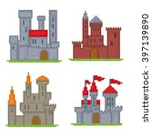 castles and fortresses vector...