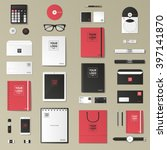 corporate identity template set.... | Shutterstock .eps vector #397141870